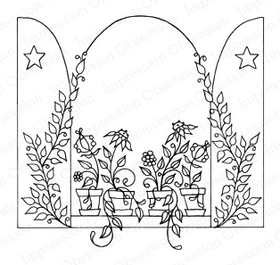 Impression Obsession Cling Stamp WINDOW BOX H2164
