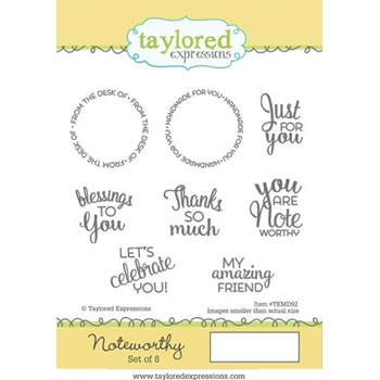 Talyored Expressions NOTEWORTHY Cling Stamp Set TEMD92