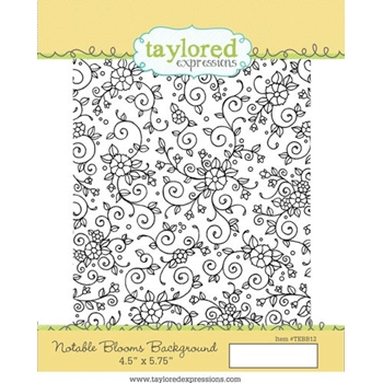 Talyored Expressions NOTABLE BLOOMS BACKGROUND Cling Stamp Set TEMBB12