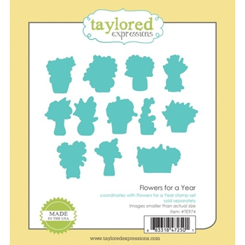 Taylored Expressions FLOWERS FOR A YEAR Die Set TE974
