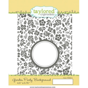 Talyored Expressions GARDEN PARTY BACKGROUND Cling Stamp Set TEMBB11