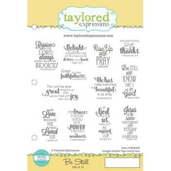 Taylored Expressions BE STILL Cling Stamp Set TEFS200