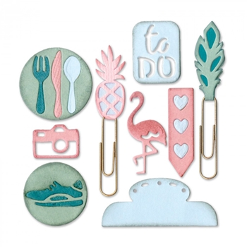Sizzix PLANNER PAGE ICONS 2 Thinlits Die Set 661527
