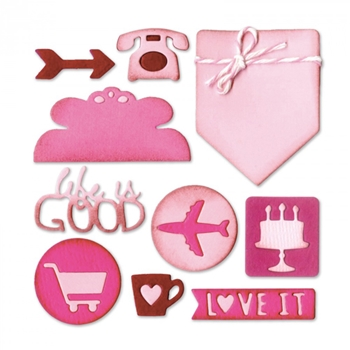 Sizzix PLANNER PAGE ICONS Thinlits Die Set 661526