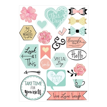 Sizzix PLANNER PAGE ICONS Stickers 661529
