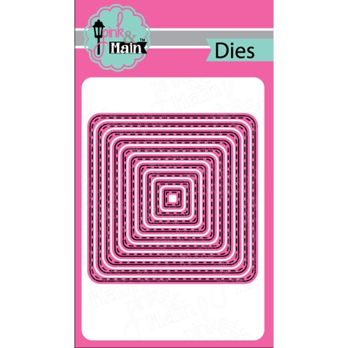 Pink and Main Stitche Rounded Squares Die Set