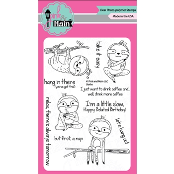 Pink and Main SLOTHS Clear Stamp Set 022443