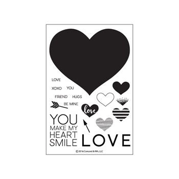 Concord & 9th HEART SMILE Clear Stamp Set 10139C9