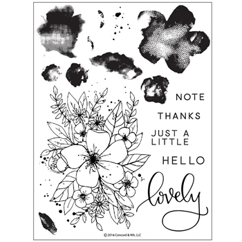 Concord & 9th HELLO LOVELY Clear Stamp Set 10135C9