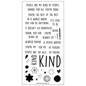 Concord & 9th KINDHEARTED Clear Stamp Set 10136C9