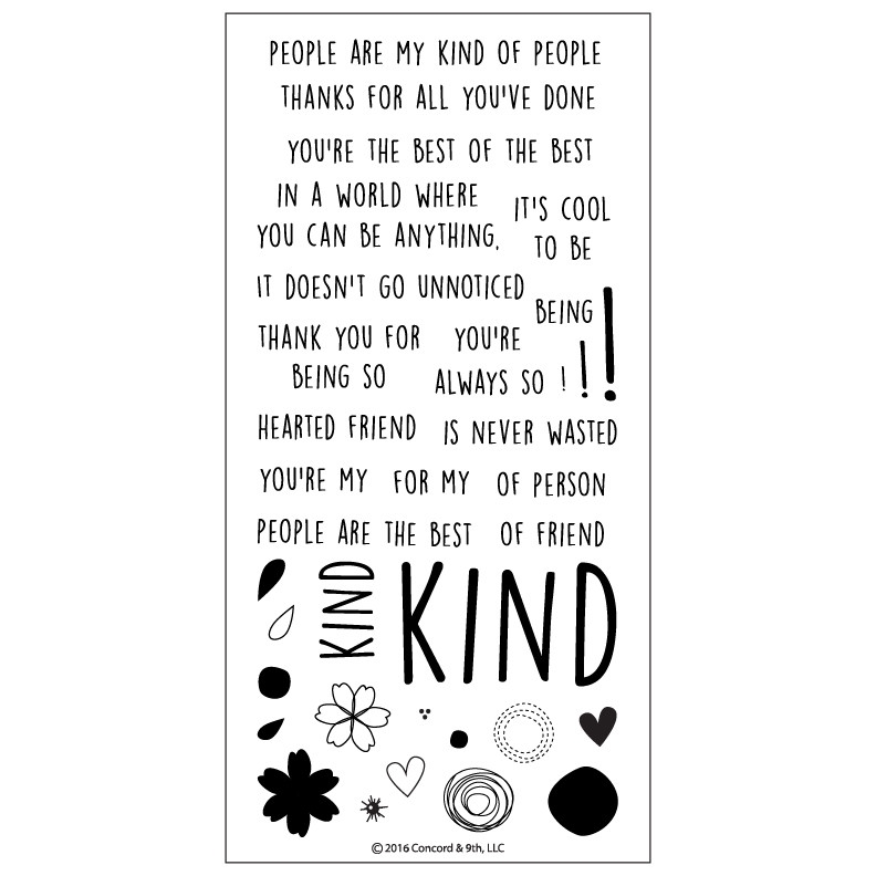 Concord & 9th KINDHEARTED Clear Stamp Set 10136C9 zoom image