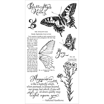 Graphic 45 NATURE SKETCHBOOK BUTTERFLY KISSES Cling Stamps IC0374