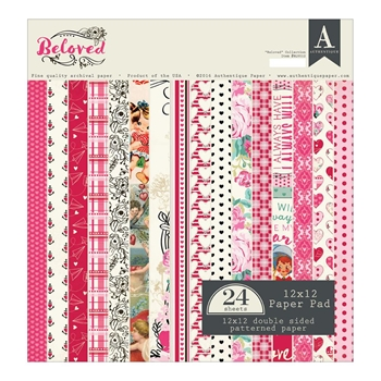 Authentique BELOVED 12 x 12 Paper Pad BLV012