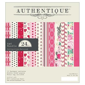 Authentique 6 x 6 BELOVED Paper Pad BLV010