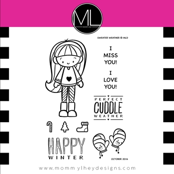 Mommy Lhey SWEATER WEATHER Clear Stamp Set MLD155