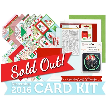 Simon Says Stamp Card Kit of The Month DECEMBER 2016 MERRY AND BRIGHT ck1216
