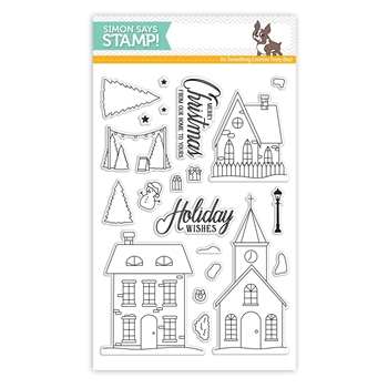 Simon Says Clear Stamps CHRISTMAS TOWN SSS101685 Advent