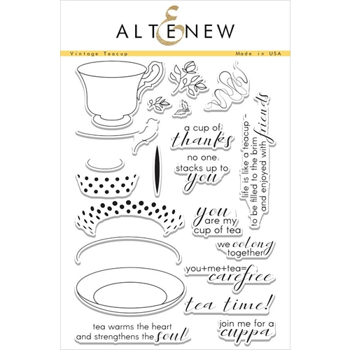 Altenew VINTAGE TEACUPS Clear Stamp Set Preview Image