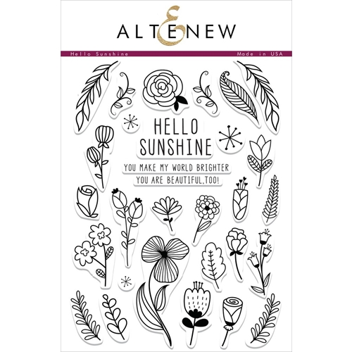 Altenew HELLO SUNSHINE Clear Stamp Set Preview Image