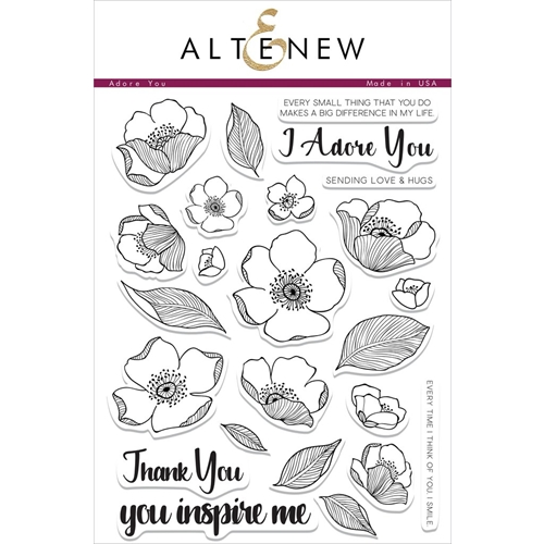 Altenew ADORE YOU Clear Stamp Set Preview Image