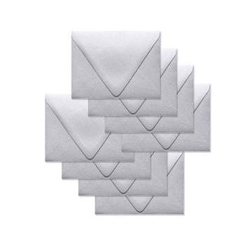 Simon Says Stamp Envelopes V FLAP METALLIC SILVER SSSE52