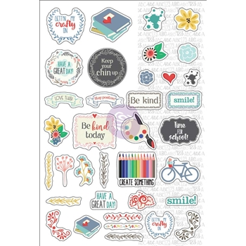 Prima Flowers SEPTEMBER MONTHLY STICKERS Julie Nutting Planner 911928