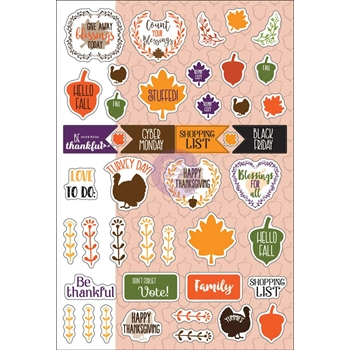 Prima Flowers NOVEMBER MONTHLY STICKERS Julie Nutting Planner 911942