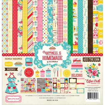 Echo Park HAPPINESS IS HOMEMADE 12 x 12 Collection Kit HIH118016
