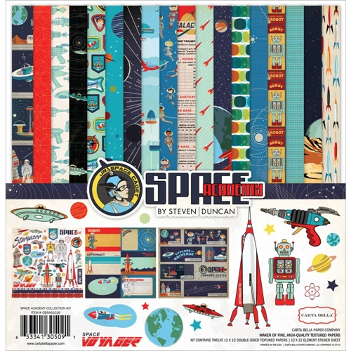 Carta Bella SPACE ACADEMY 12 x 12 Collection Kit CBSA61016 Preview Image