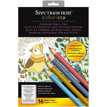 Crafter's Companion NATURAL BEAUTY Colorista 5x7 Pencil Pad SPECNCPP5NAT