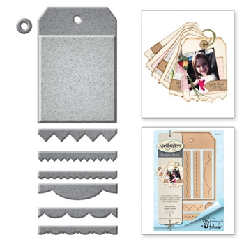 S4-725 Spellbinders Tammy Tutterow SHORTIE TAGS Etched Dies