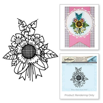 SBS-084 Tammy Tutterow SUNFLOWER BUNCH Cling Stamp