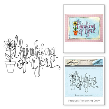 SBS-085 Spellbinders Tammy Tutterow THINKING OF YOU Cling Stamp