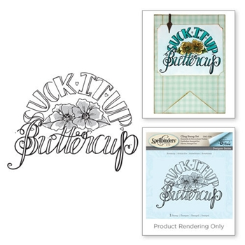 DSC-038 Spellbinders Tammy Tutterow BUTTERCUP 3D Shading Cling Stamp