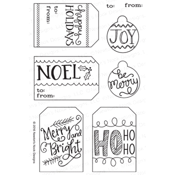 Newton's Nook Designs JOYFUL TAGS Clear Stamp Set 20161103