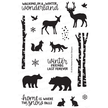 Newton's Nook Designs SERENE SILHOUETTES Clear Stamp Set 20161102