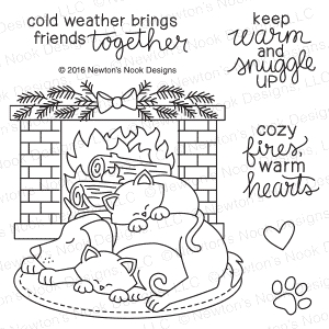 Newtons Nook Fireside Friends Clear Stamp Set