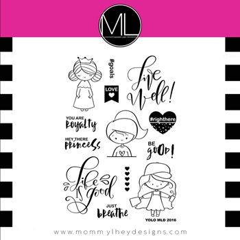 Mommy Lhey YOLO Clear Stamp Set MLD164