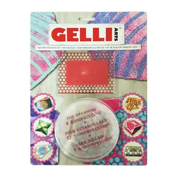 GelliArts HEXAGON MINI Printing Plate Kit 000307