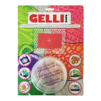 GelliArts ROUND MINI Printing Plate Kit 000314