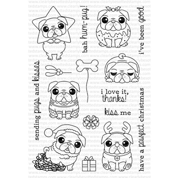 Clearly Besotted BAH HUM-PUG! Clear Stamp Set