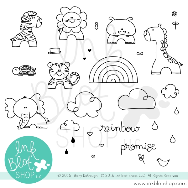 Ink Blot Shop Clear Stamp Set RAINBOW PROMISE