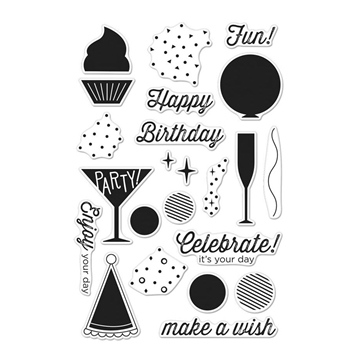 RESERVE Hero Arts Clear Stamps BIRTHDAY CELEBRATION CM123