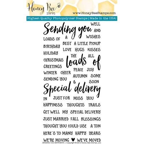 Honey Bee SENDING YOU SENTIMENTS Clear Stamp Set HBST37 Preview Image