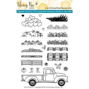 Honey Bee LITTLE PICKUP Clear Stamp Set HBST36