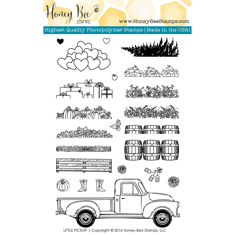 Honey Bee LITTLE PICKUP Clear Stamp Set HBST36 zoom image