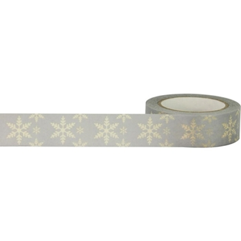 Little B CREAM SNOWFLAKE Metallic Tape 102251