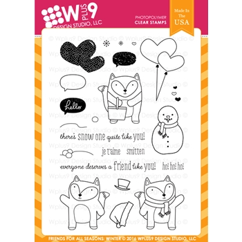 Wplus9 FRIENDS FOR ALL SEASONS WINTER Clear Stamps CLWP9FFSW
