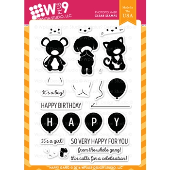 Wplus9 HAPPY GANG Clear Stamps CLWP9HG
