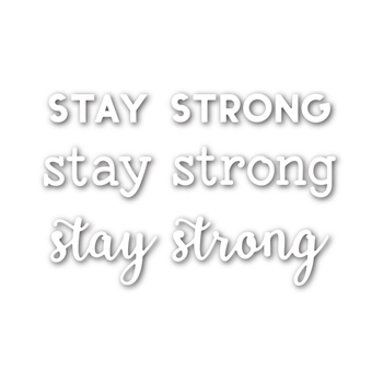 Simon Says Stamp STAY STRONG Wafer Die SSSD111629 Diecember